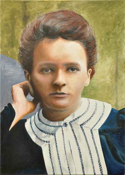 Marie Curie, Gemälde